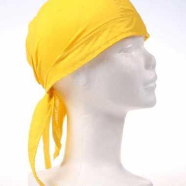 Carnavalskleding gele bandana luxe kwaliteit arnhem