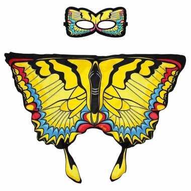 Carnavalskleding gele zwaluwstaart vlinder verkleedset meisjes arnhem