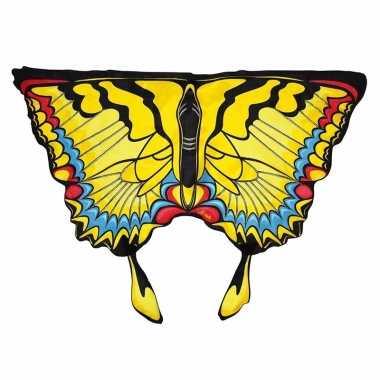 Carnavalskleding gele zwaluwstaartvlinder vleugels kids arnhem