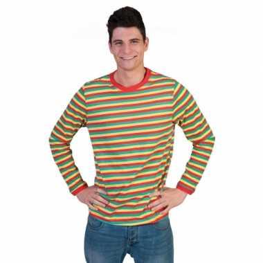 Carnavalskleding gestreept heren shirt dorus arnhem