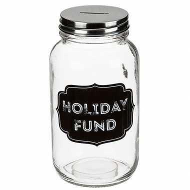 Carnavalskleding glazen spaarpot holiday fund arnhem