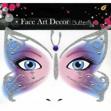 Carnavalskleding  Glitter schmink sticker vlinder Arnhem