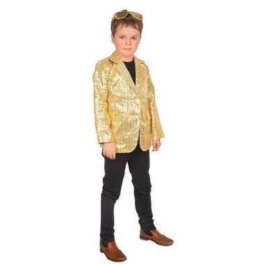 Carnavalskleding goud glitter verkleed jasje kinderen arnhem