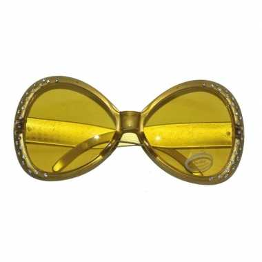 f19241b340eb58 Carnavalskleding Gouden disco bril diamantjes Arnhem ...