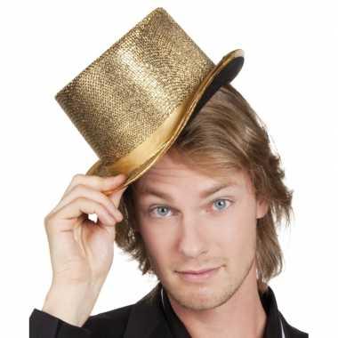 Carnavalskleding gouden hoge hoed arnhem