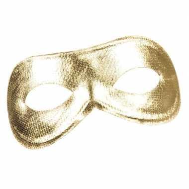 Carnavalskleding gouden metallic oogmasker dames arnhem