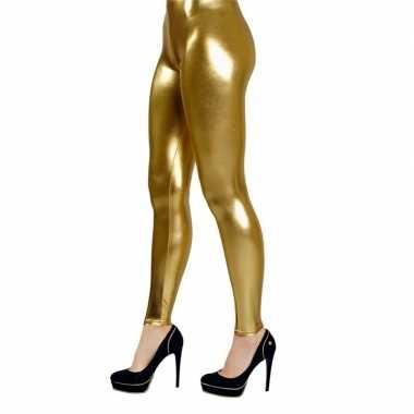 Carnavalskleding gouden verkleed legging dames arnhem