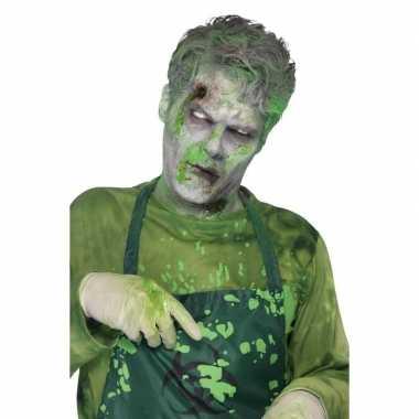 Carnavalskleding groen monster nepbloed/filmbloed ml arnhem