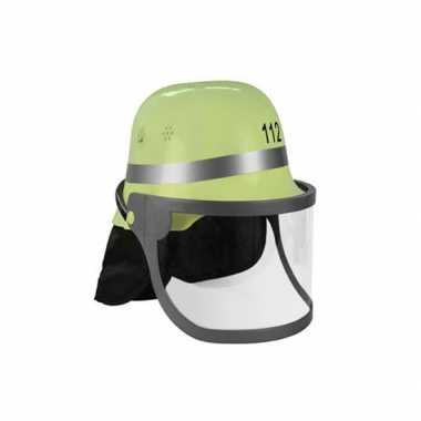 Carnavalskleding groene brandweer helm arnhem