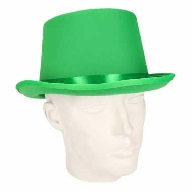 Carnavalskleding groene hoge hoed volwassenen arnhem
