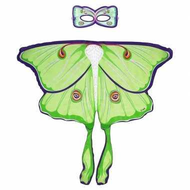 Carnavalskleding groene maanvlinder verkleedset meisjes arnhem