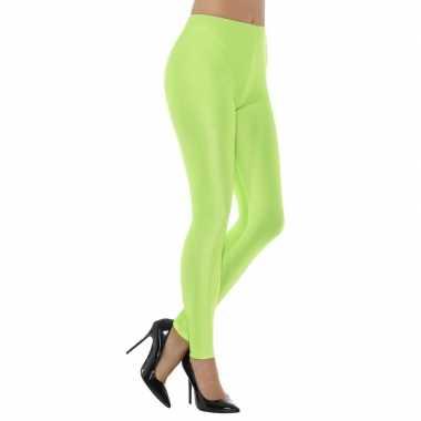 Carnavalskleding groene spandex verkleed legging dames arnhem