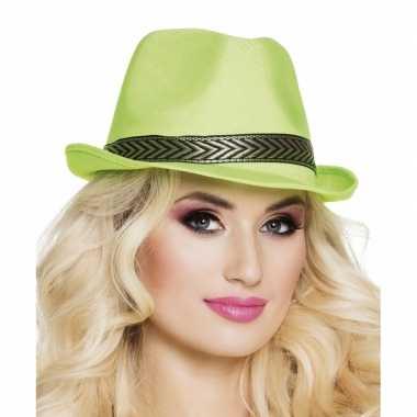 Carnavalskleding groene trilby hoed volwassenen arnhem