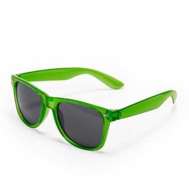 Carnavalskleding groene verkleed accessoire zonnebril volwassenen arn