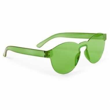 Carnavalskleding groene verkleed zonnebril volwassenen arnhem
