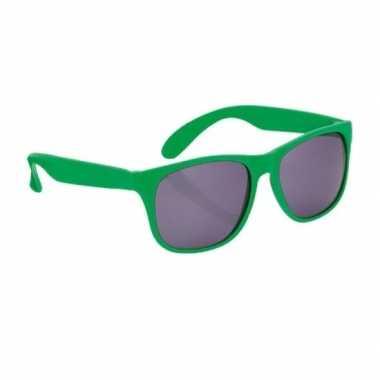 Carnavalskleding groene zonnebril arnhem