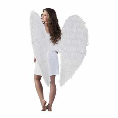 Carnavalskleding  Grote engelen vleugels wit Arnhem