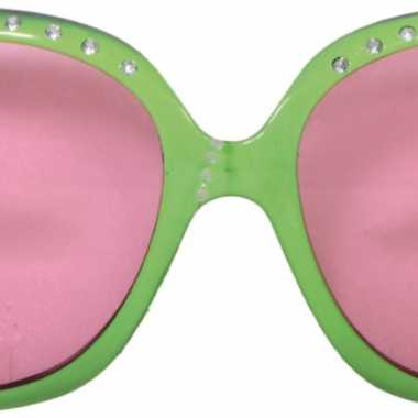 b9b26118ca2543 Carnavalskleding Grote groene bril roze glazen Arnhem ...