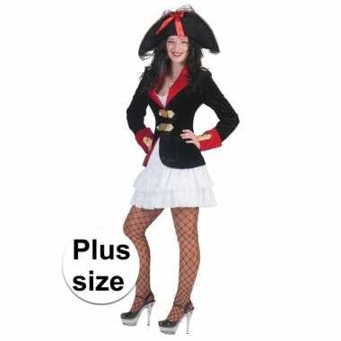 Carnavalskleding grote maat piraten jurkje colbert dames arnhem