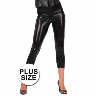 Carnavalskleding grote maten capri legging zwart arnhem