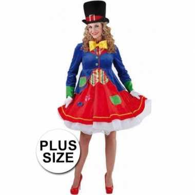 Carnavalskleding Grote Maten Dames.Carnavalskleding Grote Maten Clowns Jurkje Lucky Dames Arnhem