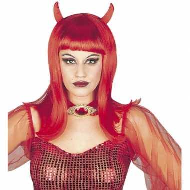 Carnavalskleding halloween dames duivel pruik arnhem