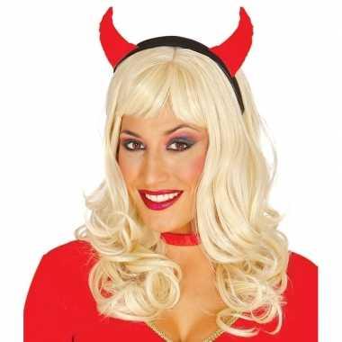 Carnavalskleding halloween diadeem duivelsoortjes dames arnhem