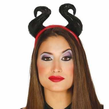 Carnavalskleding halloween diadeem zachte hoorns dames arnhem