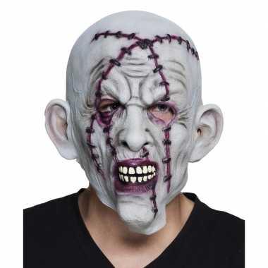Carnavalskleding halloween grijs horror halloween masker nietjes late