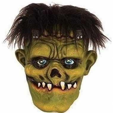 Carnavalskleding halloween groen eng halloween frankenstein masker la