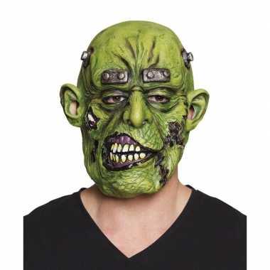Carnavalskleding halloween groen eng halloween oger masker latex arnh