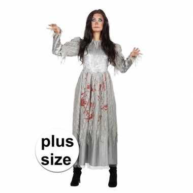 Carnavalskleding halloween grote maat zombie halloween bruidsjurk dam