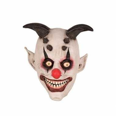 Carnavalskleding halloween halloween clown hoorns masker latex arnhem