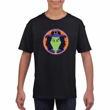 Carnavalskleding halloween heks t shirt zwart kinderen arnhem