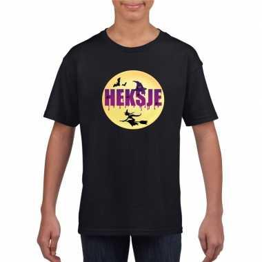 Carnavalskleding halloween heksje t-shirt zwart meisjes arnhem