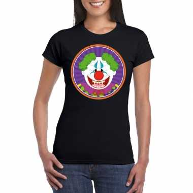 Carnavalskleding halloween horror clown t shirt zwart dames arnhem