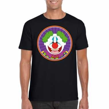 Carnavalskleding halloween horror clown t shirt zwart heren arnhem
