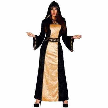 Carnavalskleding halloween horror duistere vrouw jurk zwart goud arnh