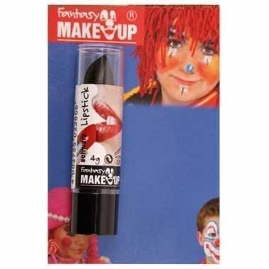 Carnavalskleding halloween/horror mat zwarte lippenstift/lipstick arn