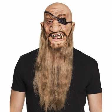 Carnavalskleding halloween latex piraten masker volwassenen arnhem