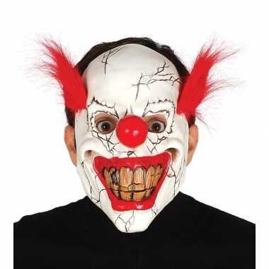 Carnavalskleding halloween masker horror clown rood haar arnhem