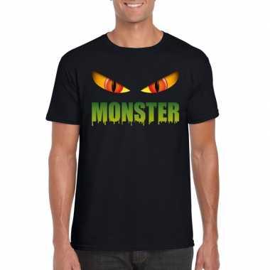 Carnavalskleding halloween monster ogen t shirt zwart heren arnhem