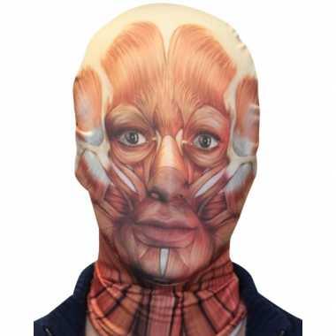 Carnavalskleding halloween morphsuit masker gezicht spieren arnhem
