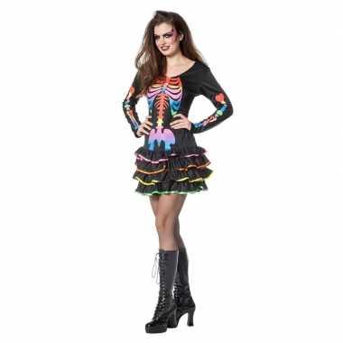 Carnavalskleding halloween neon skelet halloween jurkje dames arnhem