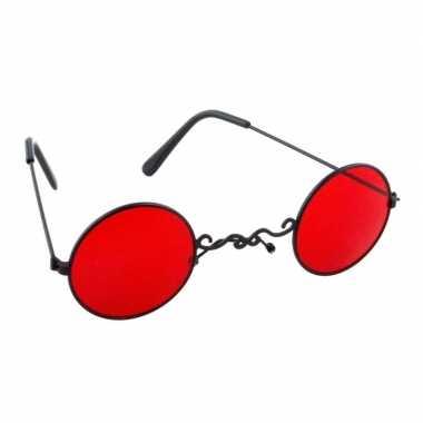 Carnavalskleding halloween rode dracula/vampier party bril volwassene