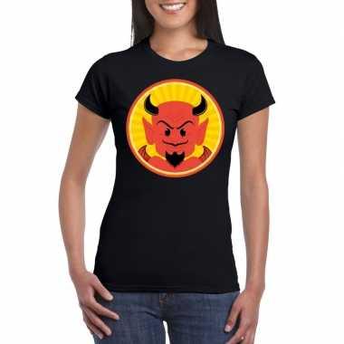 Carnavalskleding halloween rode duivel t shirt zwart dames arnhem
