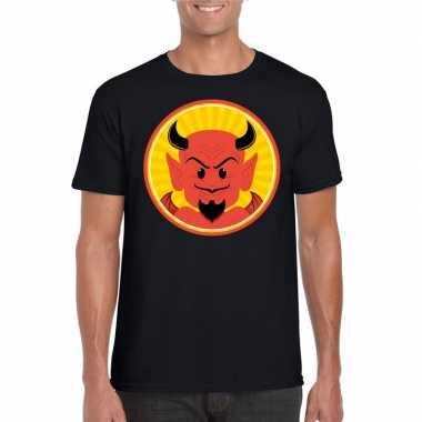 Carnavalskleding halloween rode duivel t shirt zwart heren arnhem