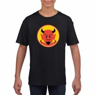 Carnavalskleding halloween rode duivel t shirt zwart kinderen arnhem