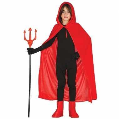 Carnavalskleding halloween rode halloween verkleedcape capuchon kinde