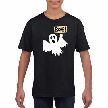 Carnavalskleding halloween spook t shirt zwart kinderen arnhem